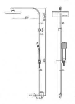 Cornat Duschsystem SQUARE mit Anti-Kalk-Funktion Bild 2