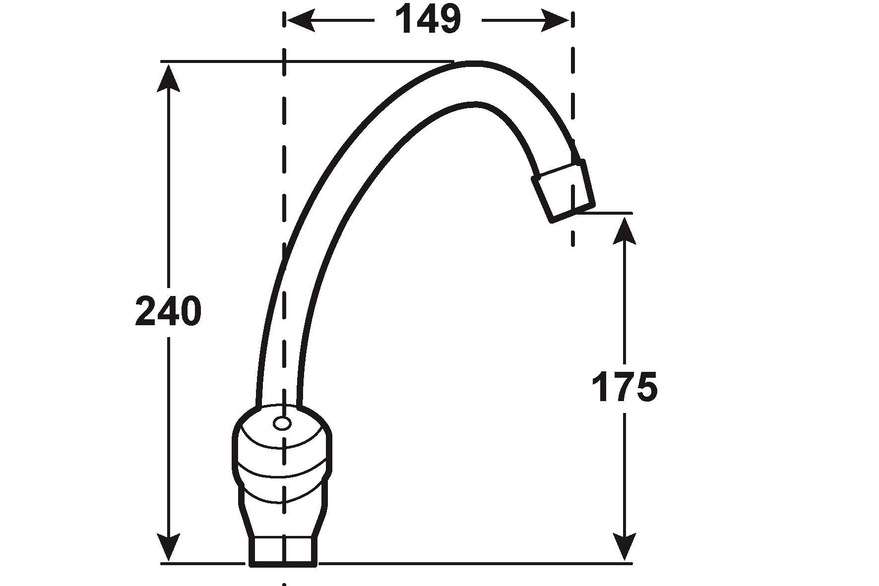 CON:P Einlochbatterie Waschtisch - Spültisch Lina / Armatur verchromt Bild 2