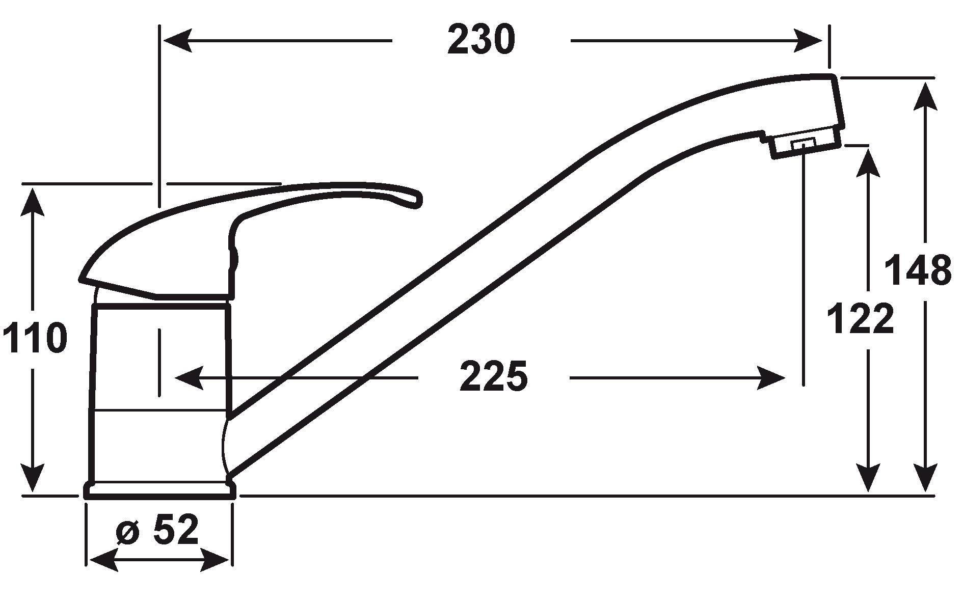 Cornat Einhebelmischer Spültisch Fabio / Küchen-Armatur FAB5 verchromt Bild 2