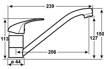 Cornat Einhebelmischer Spültisch Leon / Küchen-Armatur SA853 verchromt Bild 2