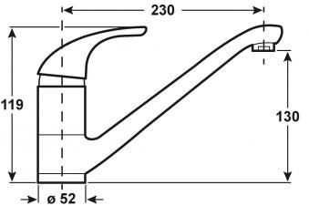 Cornat Einhebelmischer Spültisch Toledo / Küchen-Armatur verchromt Bild 2