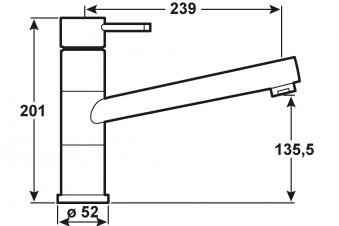 Cornat Einhebelmischer Spültisch Zelina / Küchen-Armatur verchromt Bild 2