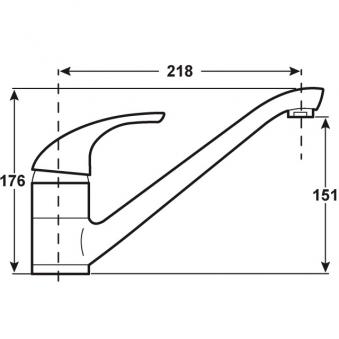 Cornat Küchenarmatur / Spültisch-Einhebelmischer Mona weiß / verchromt Bild 2