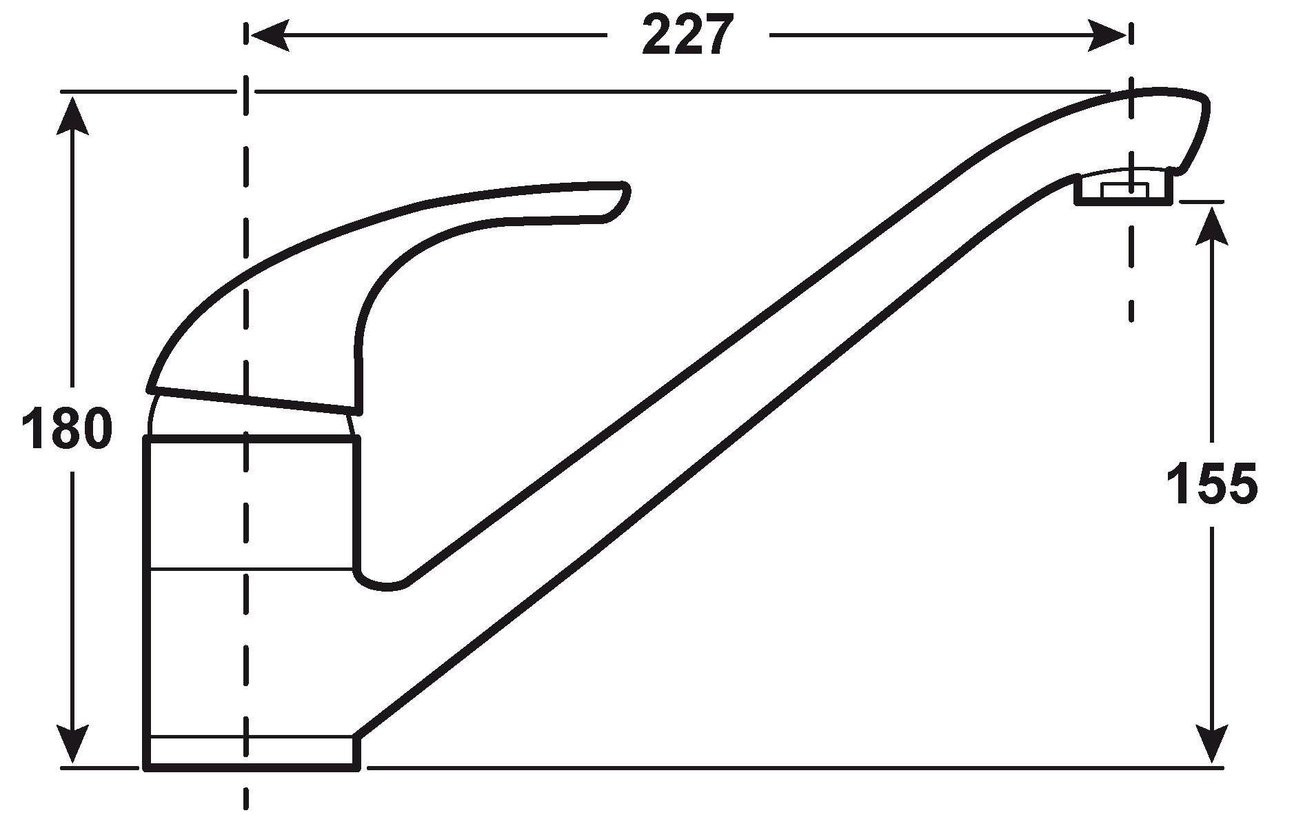 Cornat Niederdruck-Einhebelmischer Spültisch Free / verchromt Bild 2