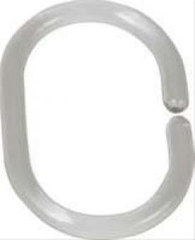 Duschvorhang-Ringe transparent, 12-er Set Bild 1
