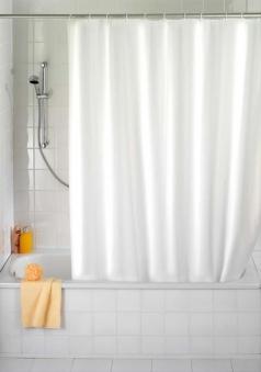 Duschvorhang Uni weiß, 120x200 cm Bild 1