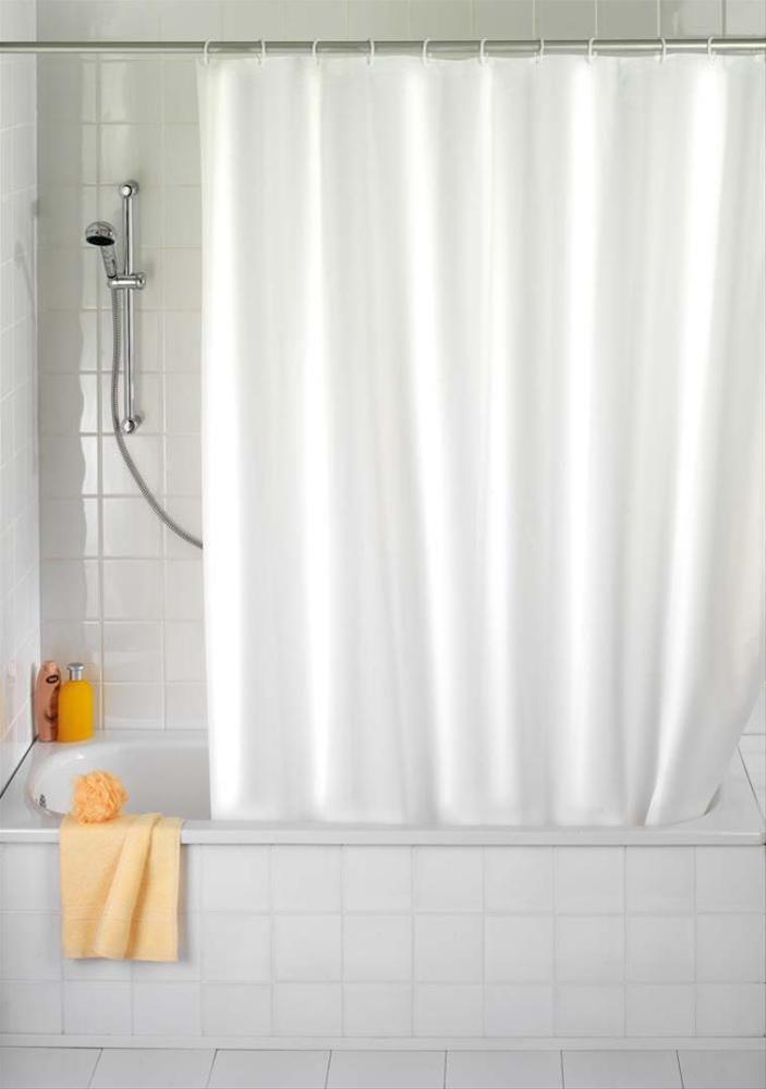 Duschvorhang Uni weiß, 180x200 cm Bild 1