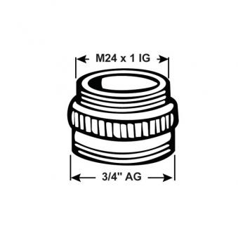 "Übergangs-Stück Conmetall M28/1 x 3/4""AG, chrom Bild 2"