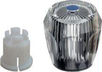 Acrylgriff / Diamantgriff mit Rastbuchse blau Bild 1