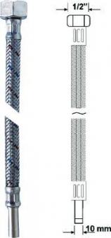 """Anschlussrohr flexibel 1/2"""" Überwurfmutter Länge 30cm Bild 1"""
