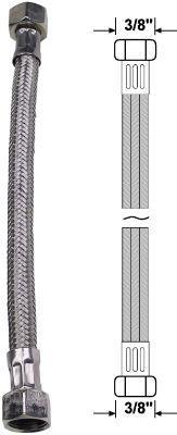 """Anschlussrohr flexibel 2x Überwurfmutter 3/8"""" Länge 50cm Bild 1"""