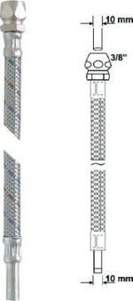"""Anschlussrohr flexibel 3/8"""" x 10mm Länge 30cm Bild 1"""