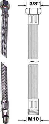"""Anschlussschlauch flexibel 35cm M10 x 3/8"""" Bild 1"""