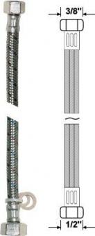 """Anschlussschlauch flexibel für Armaturen 30cm 3/8"""" x 1/2"""" Bild 1"""