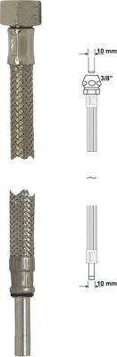 """Armaturenschlauch flexibel 3/8""""x10mm mit Überwurfmutter Länge 50cm Bild 1"""