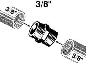 """Doppelnippel 3/8"""" verchromt Bild 1"""
