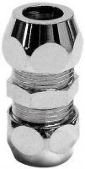 Kupplung mit Quetschverschraubung verchromt Ø10mm Bild 1