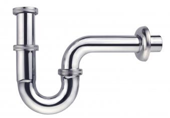 "Röhrengeruchsverschluss / Messing Röhren-Siphon verchromt 1 1/4"" Bild 1"