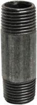 """Rohr beidseitige Gewinde 1/2"""" 4cm verzinkt Bild 1"""