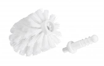 Ersatzbürste m. Adapter weiß 7,5 cm Bild 1