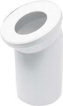 WC-Anschlussrohr 90 Grad weiß Bild 1