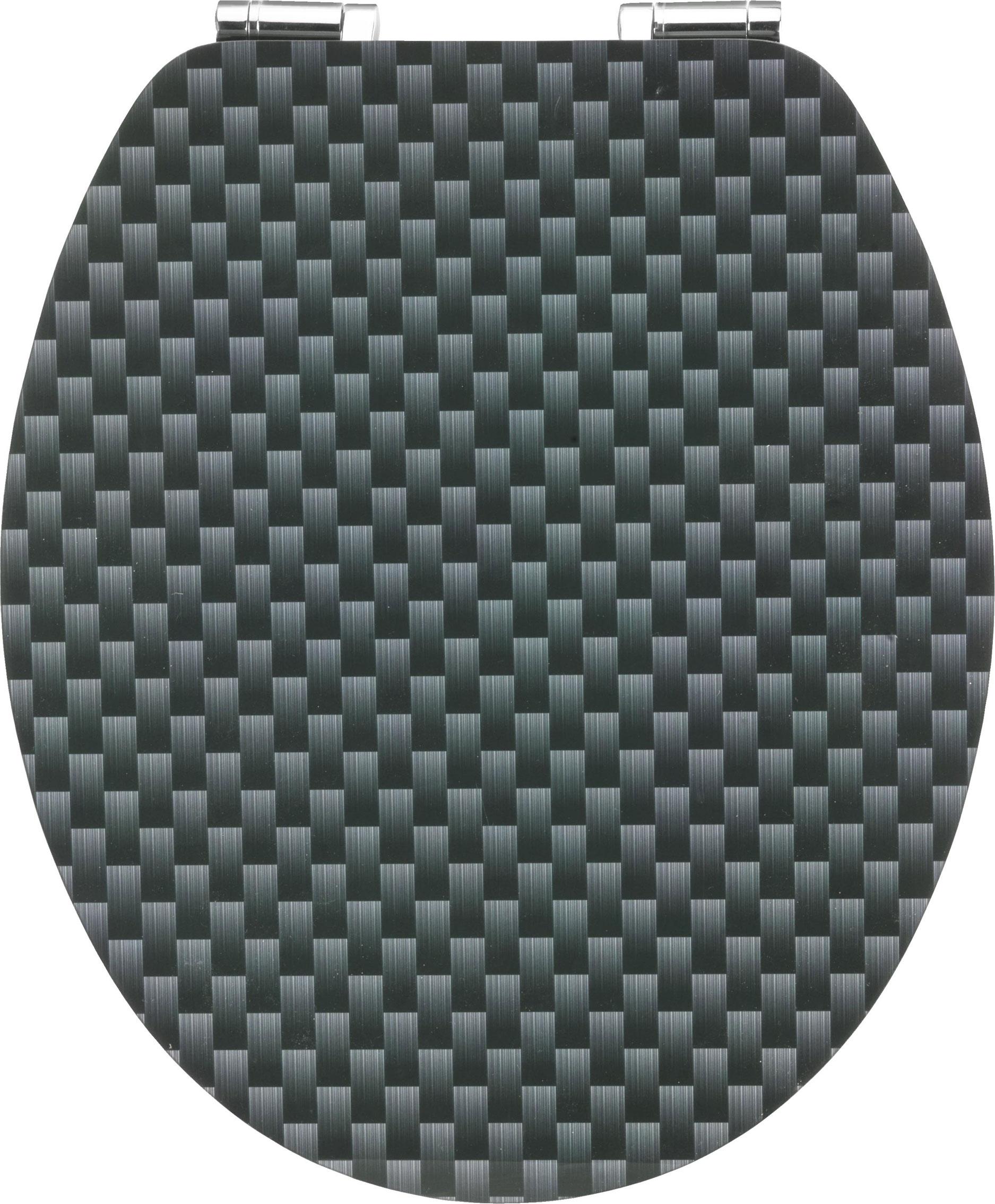 Corna WC-Sitz / Toilettendeckel Absenkautomatik Art of Acryl Carbon Bild 1