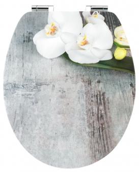 Cornat WC-Sitz / Toilettendeckel Absenkautomatik Art of Acryl Orchis Bild 1