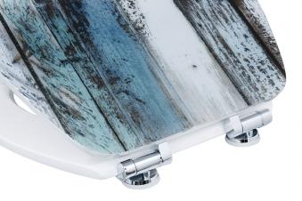 Cornat WC-Sitz / Toilettendeckel Absenkautomatik Art of Acryl Wooden Bild 3