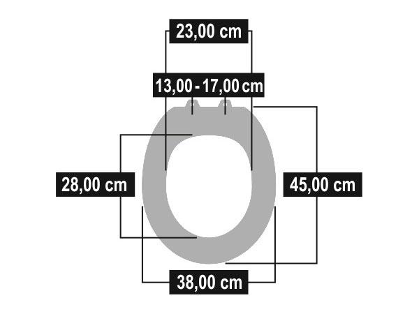 Cornat WC-Sitz / Toilettendeckel Telo weiß Bild 2