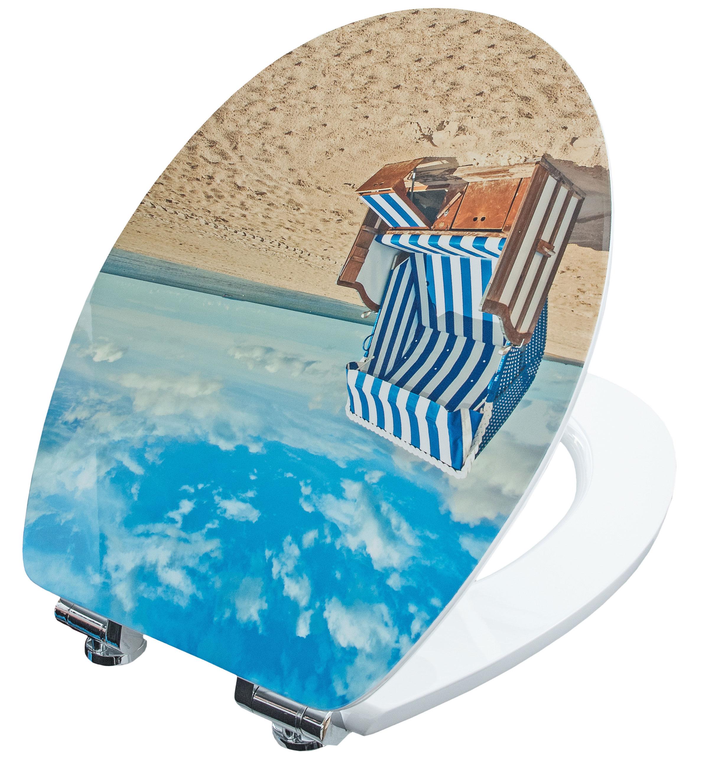 Cornat WC-Sitz / Toilettendeckel mit Absenkautomatik Dekor Sonnenbad Bild 1