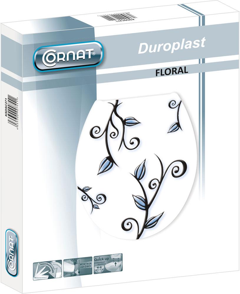 Cornat WC-Sitz / Toilettendeckel mit Absenkautomatik Floral Bild 3