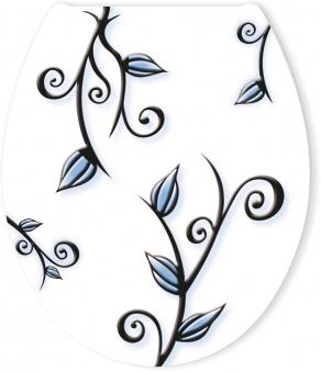 Cornat WC-Sitz / Toilettendeckel mit Absenkautomatik Floral Bild 1