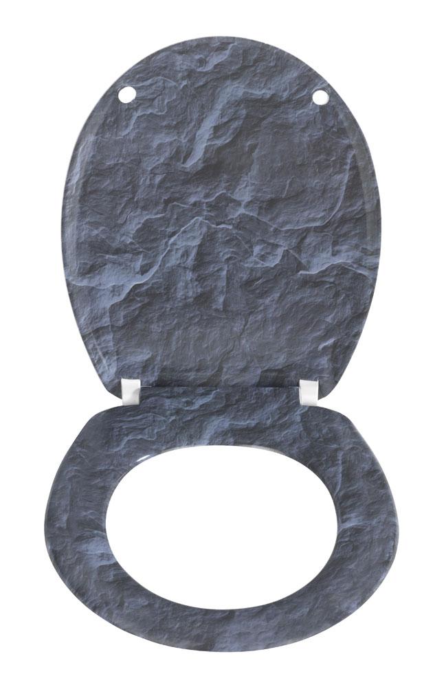 wc sitz wenko slate rock duroplast mit absenkautomatik bei. Black Bedroom Furniture Sets. Home Design Ideas