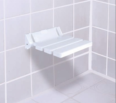 GAH Alberts Duschklappsitz / Duschhilfe Kunststoff weiß Bild 1