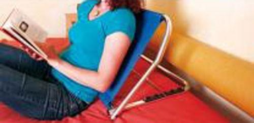 GAH Alberts Rückenstütze / Alltagshilfe 70x48x47cm blau/silber Bild 1