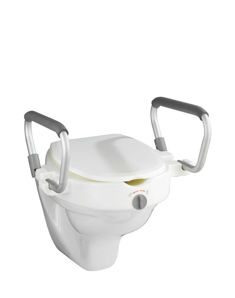 WC-Sitz Erhöhung Wenko Secura mit Stützgriffen Bild 2