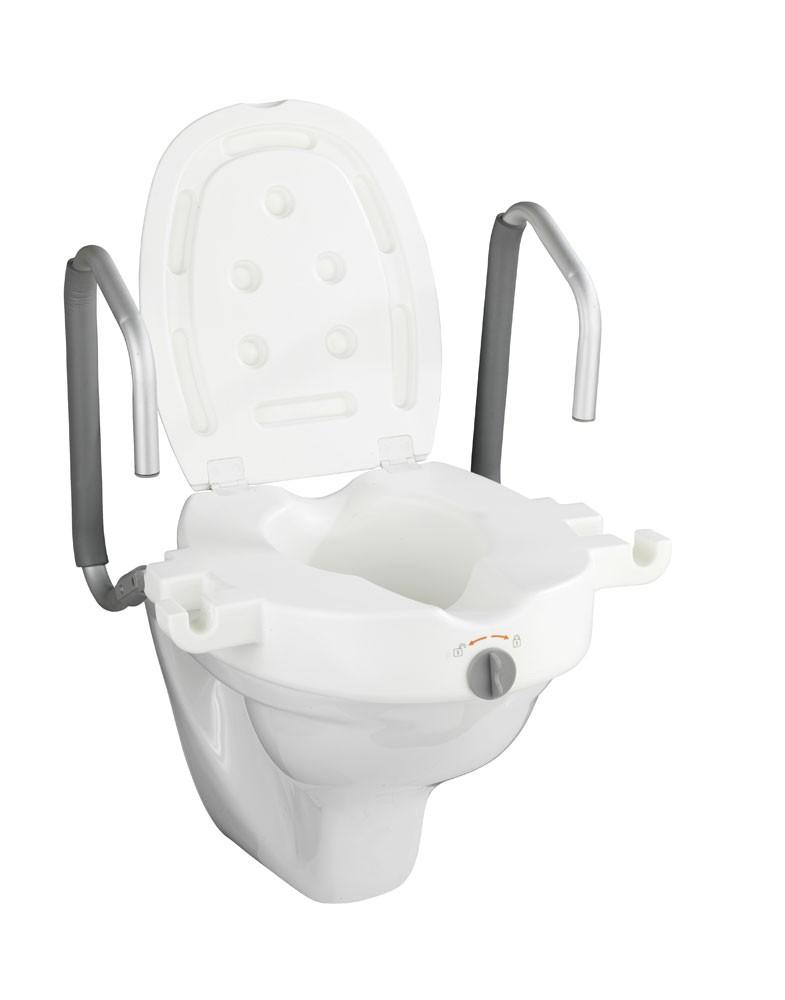 WC-Sitz Erhöhung Wenko Secura mit Stützgriffen Bild 3
