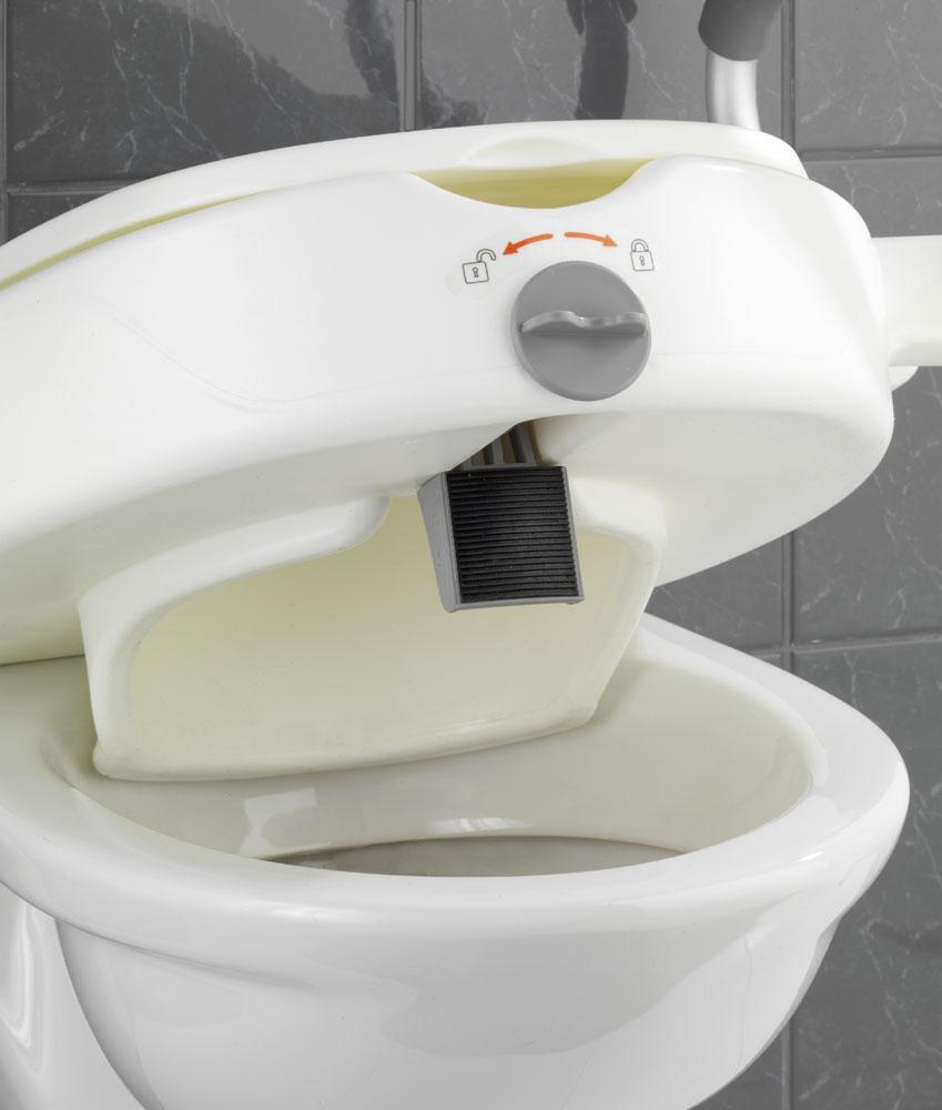 WC-Sitz Erhöhung Wenko Secura mit Stützgriffen Bild 4