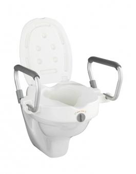 WC-Sitz Erhöhung Wenko Secura mit Stützgriffen Bild 1