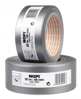 NOPI® Gewebeband / Reparaturband silber 50 mm x 50 m Bild 1