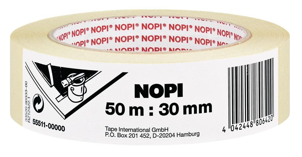 NOPI® Klebeband / Malerkrepp 30mmx50m Set 10 Rollen Bild 1