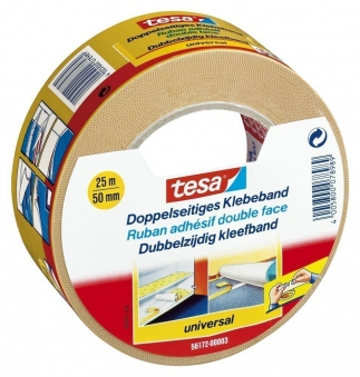 tesa® Doppelseitiges Klebeband universal 25 m x 50 mm Bild 1