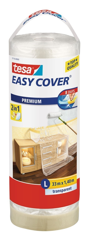 tesa® Easy Cover Premium Abdeckfolie 33 m x 1,40 m (Nachfüllrolle) Bild 1