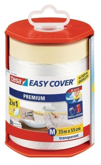 tesa® Easy Cover Premium Abdeckfolie 33 m x 55 cm (inkl. Abroller) Bild 1