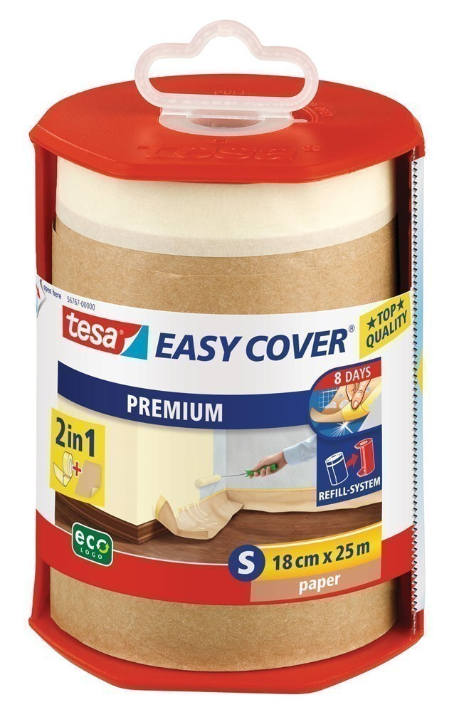 tesa® Easy Cover Premium Papier 25 m x 18 cm (inkl. Abroller) Bild 1