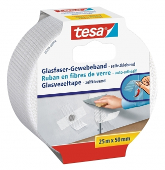 tesa® Glasfaser Gewebeband 25 m x 50 mm Bild 1