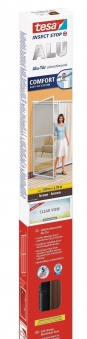 tesa® Insect Stop Fliegengitter Alu Comfort Tür 1 m x 2,20 m braun Bild 1