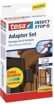 tesa® Insect Stop Adapter Set für Alu Comfort Tür braun