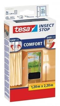tesa® Insect Stop Fliegengitter Klett Comfort Tür 1,2 x 2,2 m anthr. Bild 1