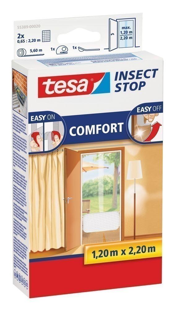 tesa® Insect Stop Fliegengitter Klett Comfort Tür 1,2 x 2,2 m weiß Bild 1